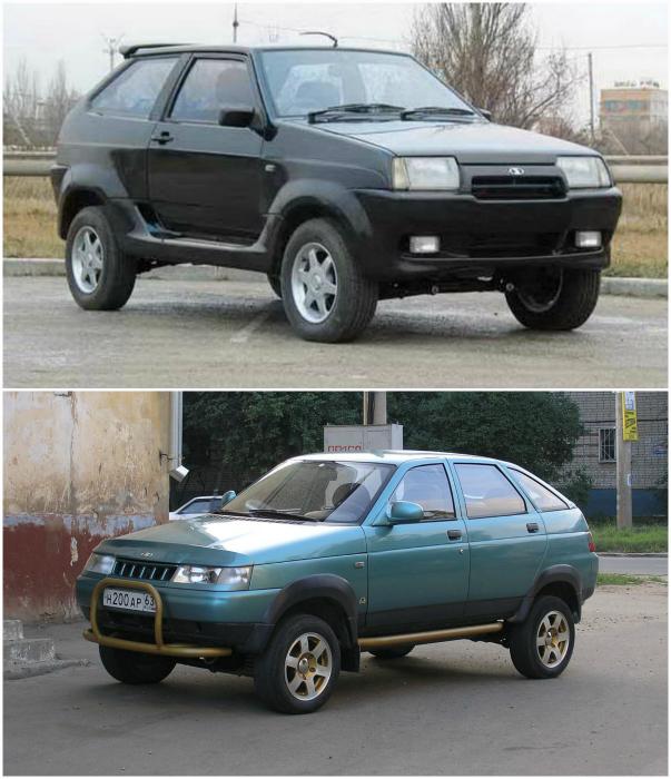 Отечественный внедорожник от завода АвтоВАЗ. Данный автомобиль базировался на ВАЗ-2108, ВАЗ 2109, имел кузов от семейства переднеприводных моделей ВАЗа и раму с установленными на неё основными агрегатами от автомобиля Нива.