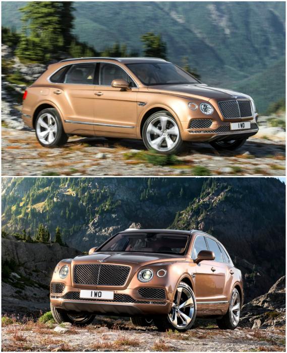������ ��������� �� �������� Bentley. ������� ���� ���������� — 2992 ��, ����� — 5141, ������ — 1998, ������ — 1742 ��. ����� ������ �������� 4-������ ������-���������, 8 �������� ��������� �������, ���������� ������, �������� ��������� ������ � ������� ������� � 10,2-�������� �������� ��� ����������.