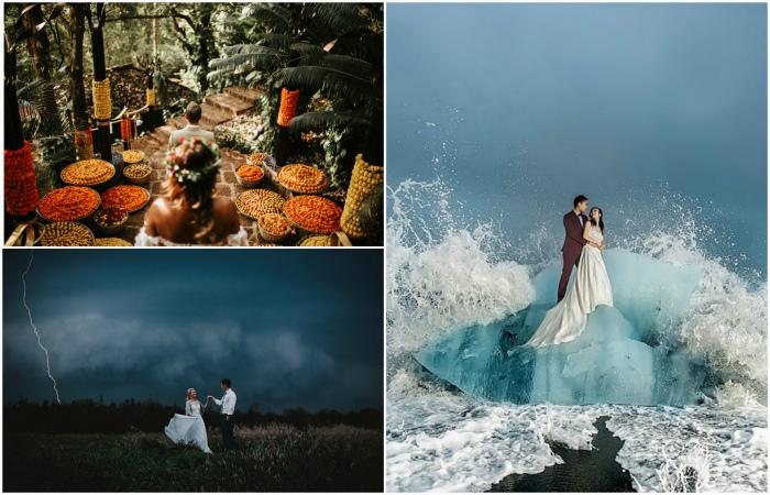 Фантастические свадебные фотографии, на которые хочется смотреть вновь и вновь.