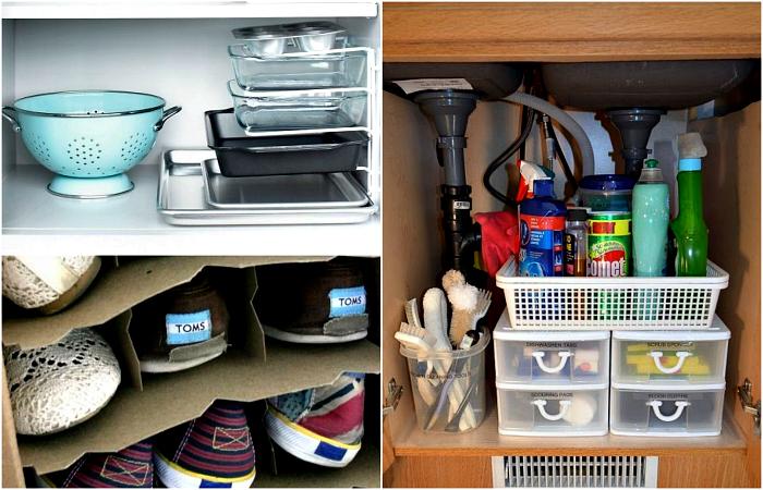 Бюджетные идеи, которые помогут превратить дом в упорядоченную систему хранения.