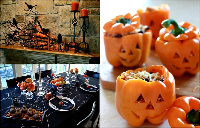 Оригинальные декорации, которые можно сделать своими руками к вечеринке по случаю Хэллоуина.