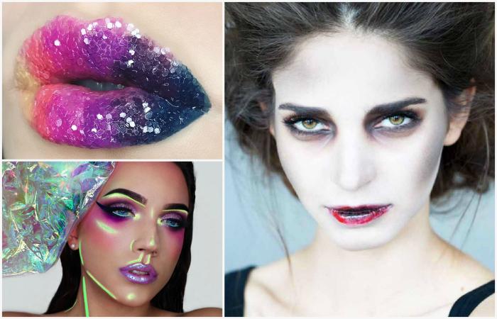 Крутые идеи макияжа к празднику Хэллоуина.