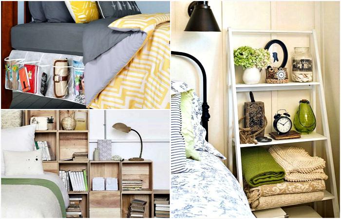 Стильные и функциональные идеи для организации хранения в маленькой спальне.