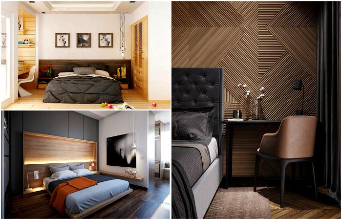 Современные интерьеры спален с мужским характером.