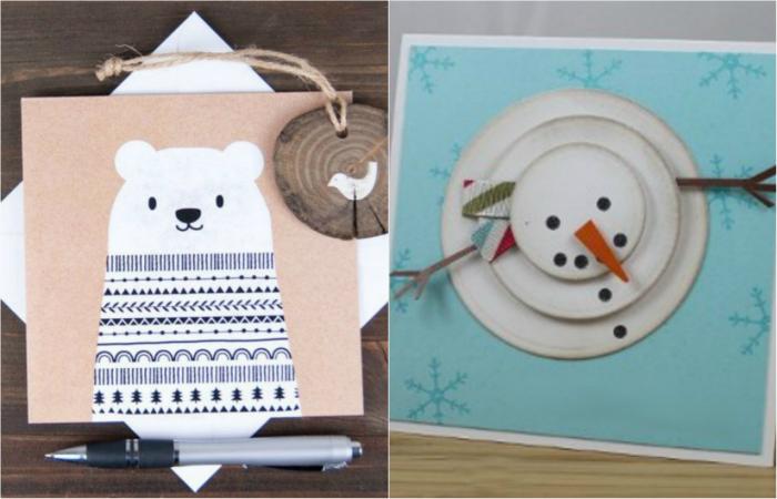 Очаровательные новогодние открытки своими руками.