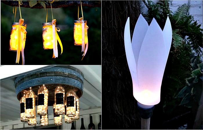 Садовый светильник своими руками