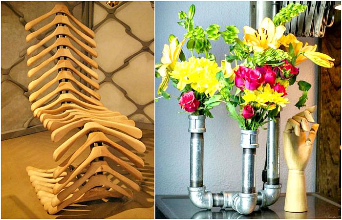 Креативные примеры превращения ненужных вещей в стильную мебель и предметы декора.