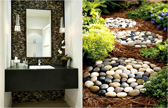 Декор для дома своими руками из камней