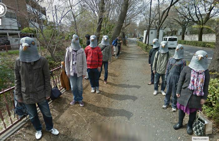 Сумасшедшие кадры зафиксированные во время просмотра улиц в Google Street.