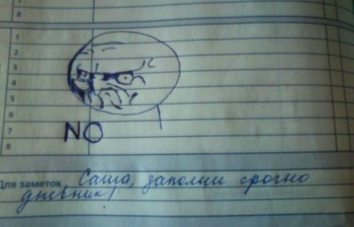 Учительские перлы в школьных дневниках.