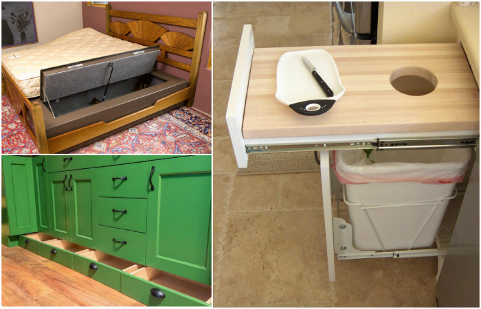 Идеи, которые помогут выиграть немного места даже в маленькой квартире.