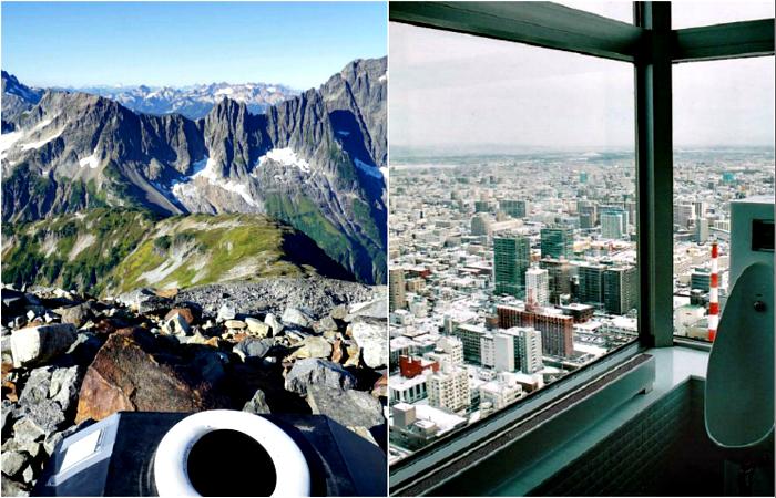 Туалеты, из которых открываются потрясающие виды.