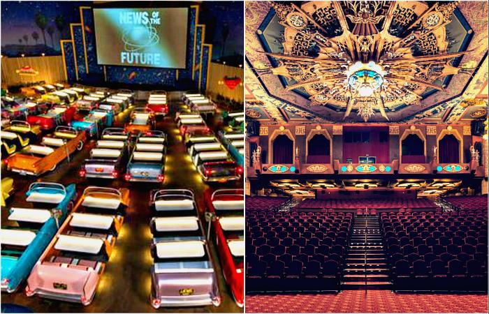 Потрясающие зрительные залы кинотеатров и театров со всего мира.