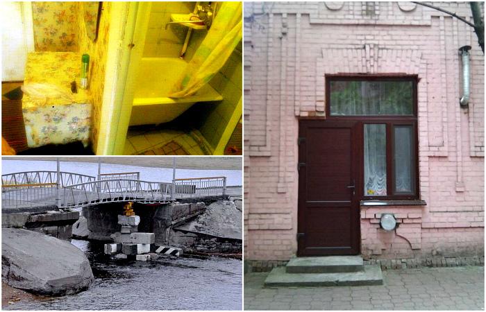 Примеры абсурдного строительства и ремонта.