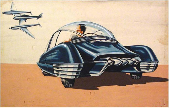Эскизы автомобилей 30-40-х годов, которые полностью изменили автомобильную промышленность.