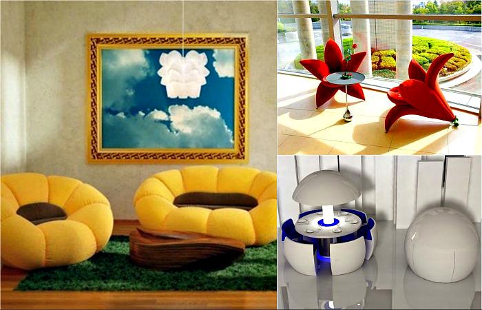 Удивительная дизайнерская мебель для дома.