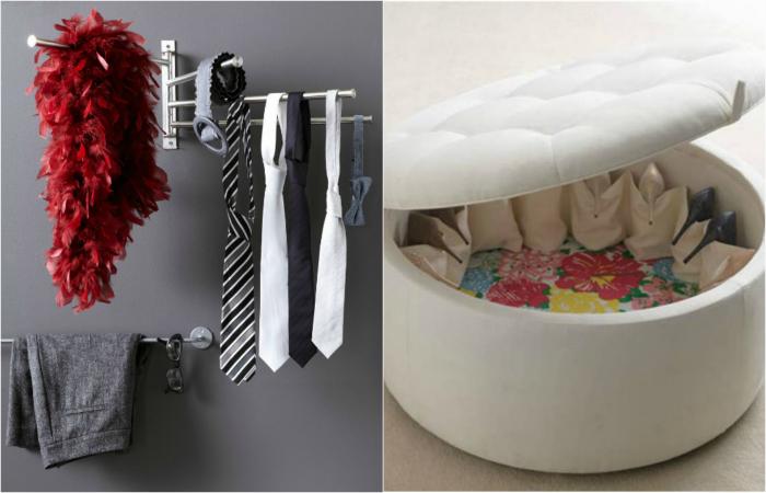 Дизайнерские идеи хранения вещей.