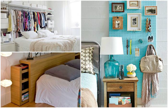 Функциональные идеи по обустройству маленьких спален.