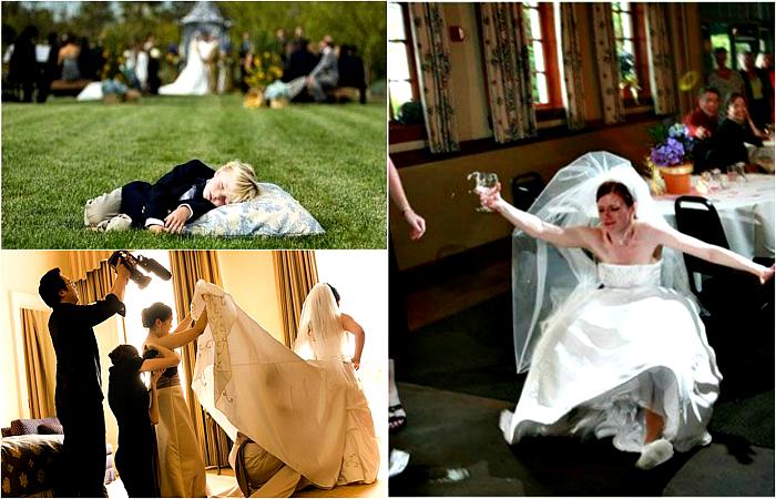 Эпичные свадебные моменты.
