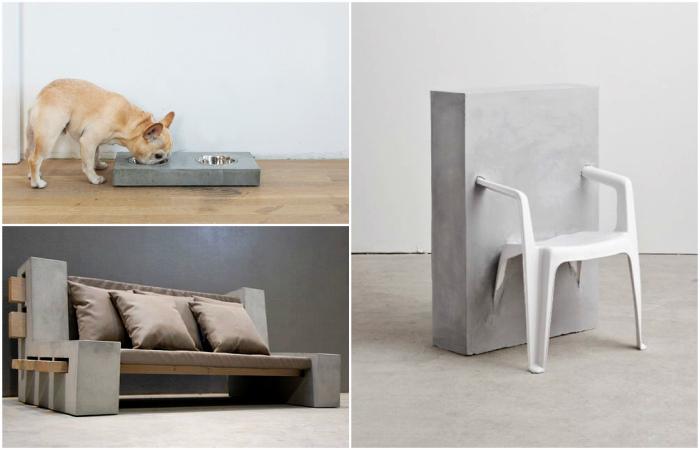 Примеры великолепной мебели и предметов декора из бетона.