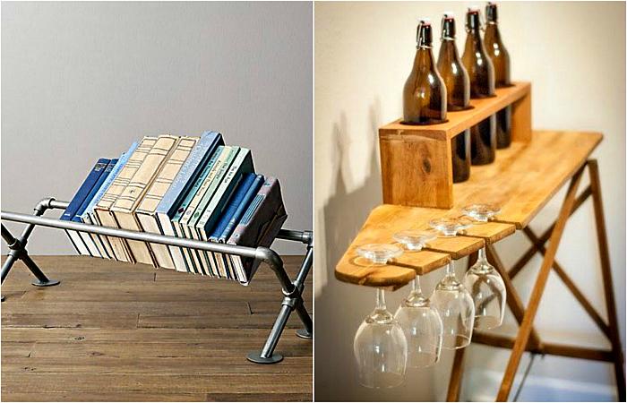 Оригинальная мебель и предметы декора, сделанные из ненужных вещей.