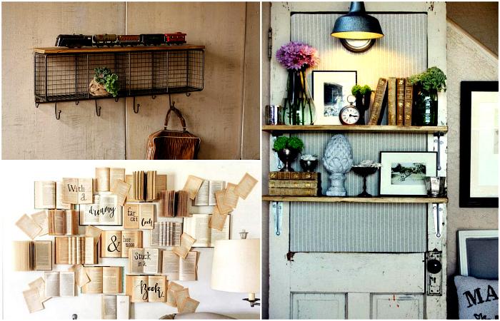 Простые и стильные идеи декора стен.
