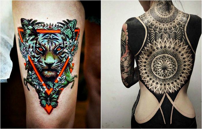 Популярные стили татуировок.