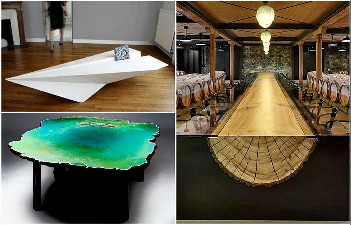 Фантастические столы, дизайн которых захватывает дух.