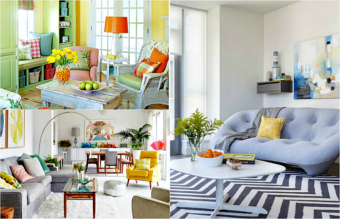 Идеи оформления и декора уютной гостиной.