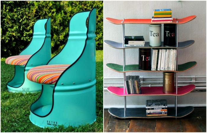 Превращение барахла в дизайнерскую мебель для дома и сада.