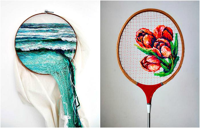 Потрясающие примеры необычной вышивки.