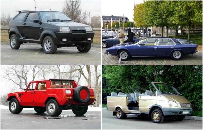 Необычные модели автомобилей известных марок.