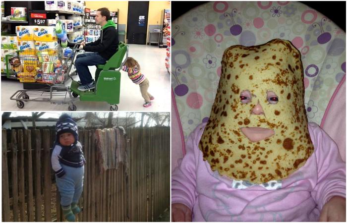 Забавные снимки об отцовских методах воспитания.
