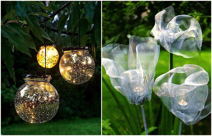 Светильники, которые привнесут в сад уют и красоту.