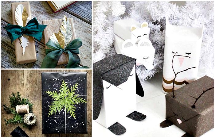 Креативные идеи упаковки новогодних подарков.
