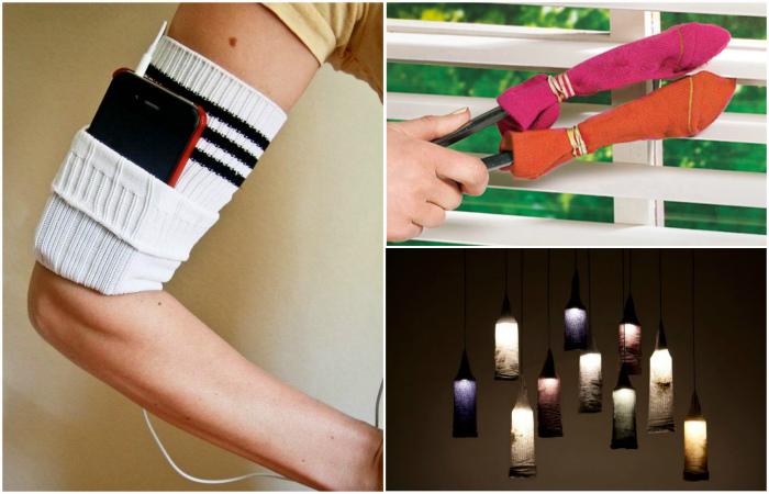 Крутые идеи использования ненужных носков.