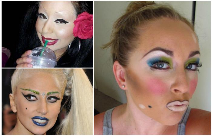 Девушки, чей макияж слегка не удался.