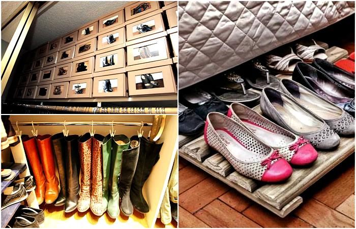 Практичные идеи хранения сезонной обуви в маленькой квартире.