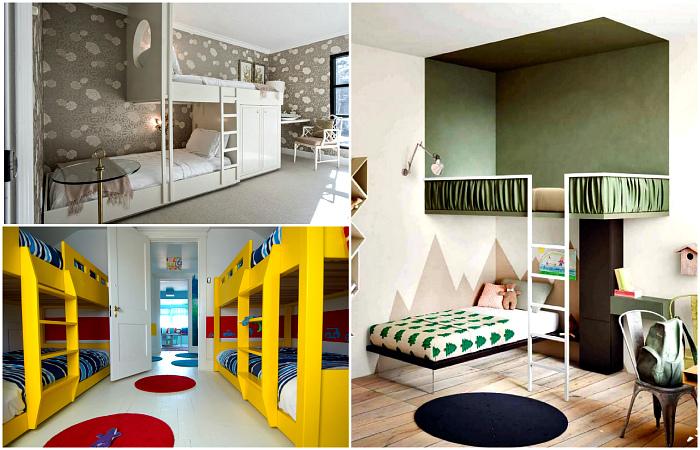 Двухэтажные кровати в интерьерах современных спален.