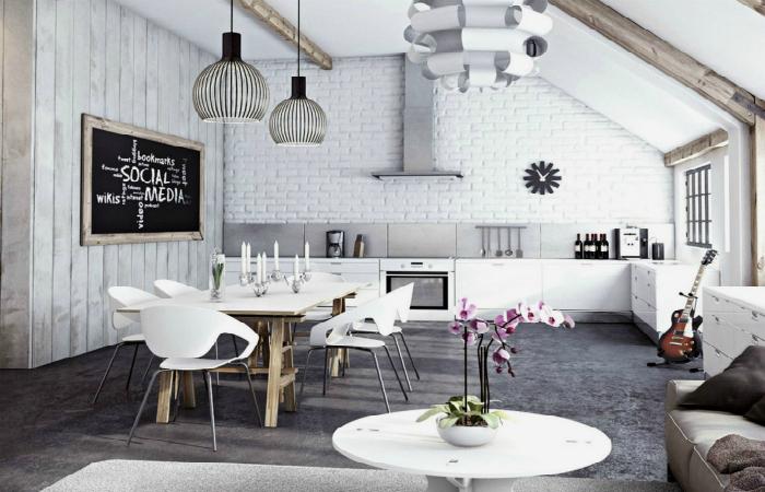 Стильные кухонные интерьеры и необычные дизайнерские решения.