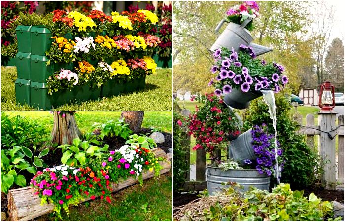 Лучшие идеи цветочных клумб.