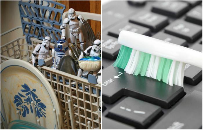 Гениальные идеи, которые значительно упростят уборку.