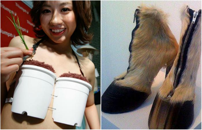 Сумасшедшие модели одежды от китайских дизайнеров.