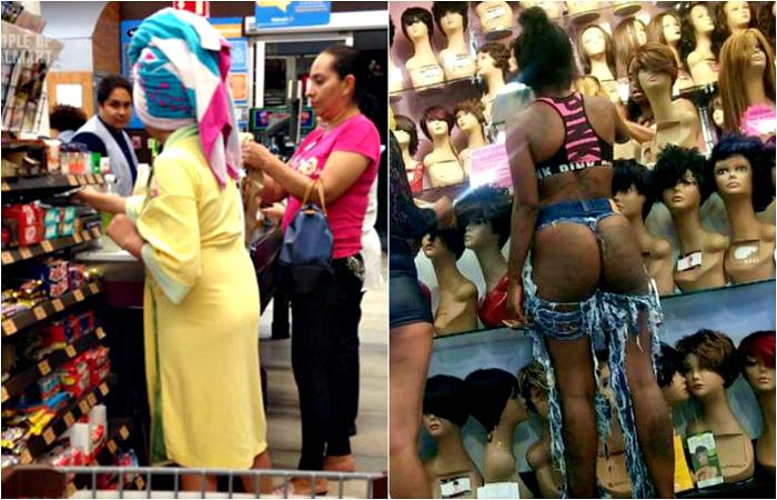 «Стильные» посетители американских супермаркетов.
