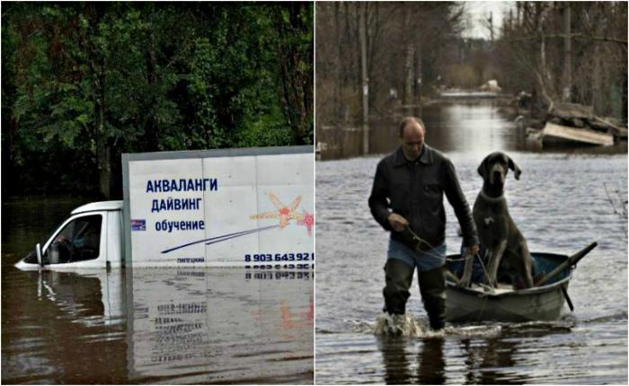 Весеннее половодье в России.