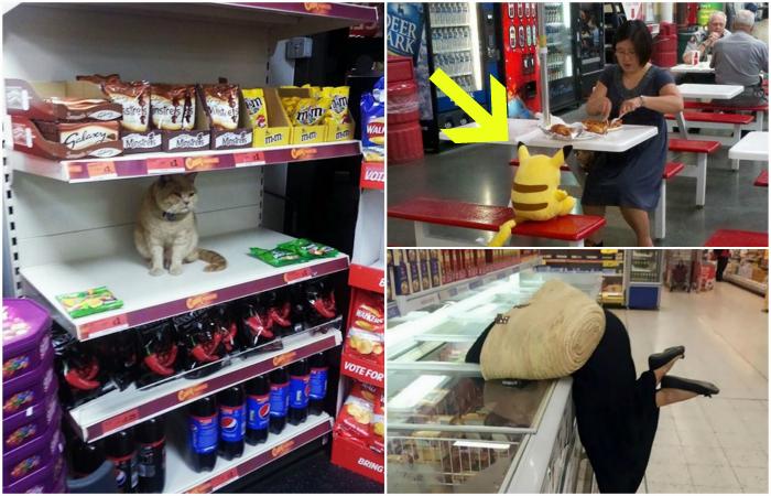 Смешные случаи в магазинах.