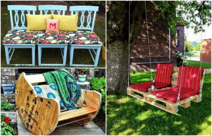 Классная мебель для сада и заднего двора.