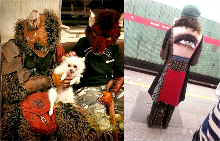 Высокая мода в метро.