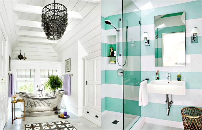 Стильные и современные ванные комнаты.
