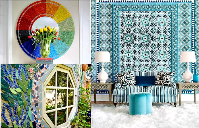 Мозаика в интерьере и ландшафтном дизайне.